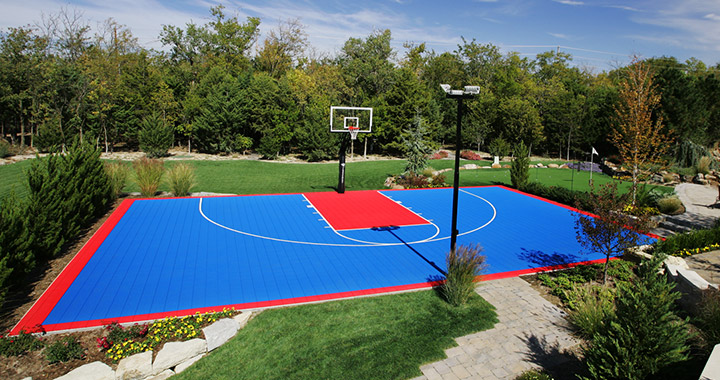 360 sports syngrass backyard residential basketball