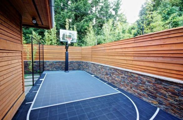 Get The Best Basketball Court For Your Backyard From 360 Sports Syngrass 360 Sportscapes