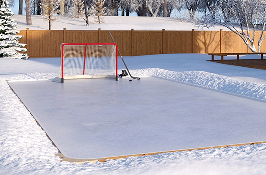 Backyard renovations sport courts 360 sports syngrass an ice rink or ice skating rink is a frozen body of water andor hardened chemicals where people can ice skate or play winter sports solutioingenieria Choice Image